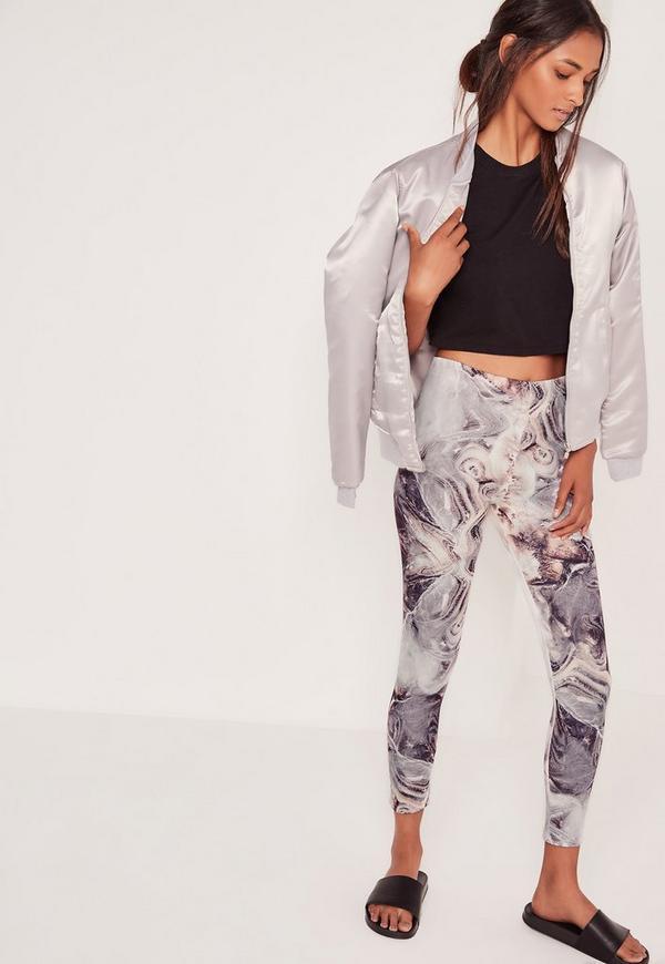 Marble Print Scuba Leggings Multi
