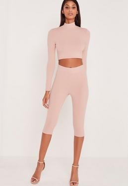 Carli Bybel Cropped Leggings Pink
