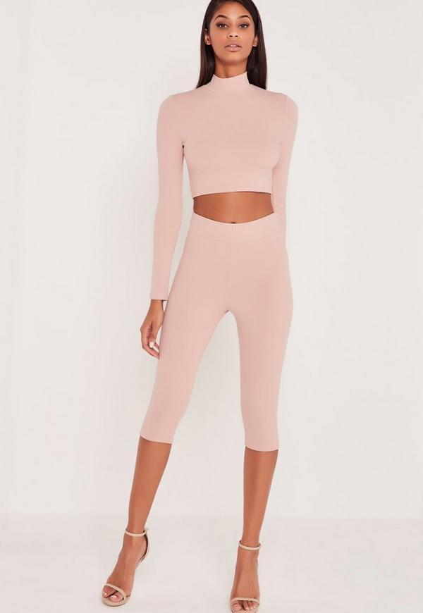Carli Bybel Cropped Leggings Pink