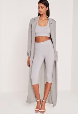Carli Bybel kurze Leggings in Grau
