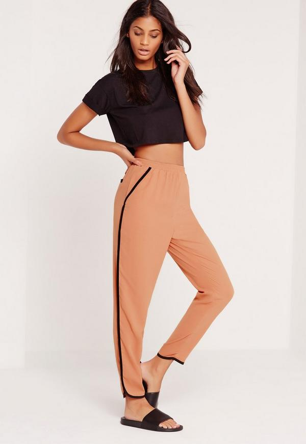 Piped Cigarette Trouser Blush