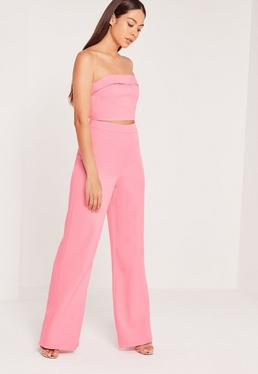 Wide Leg Trousers Pink