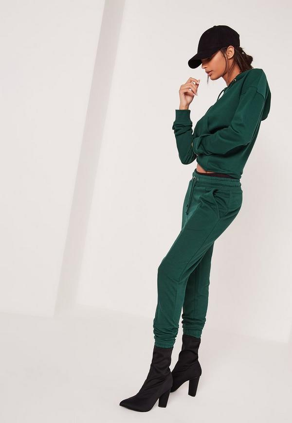 Cuffed Ankle Relaxed Joggers Green