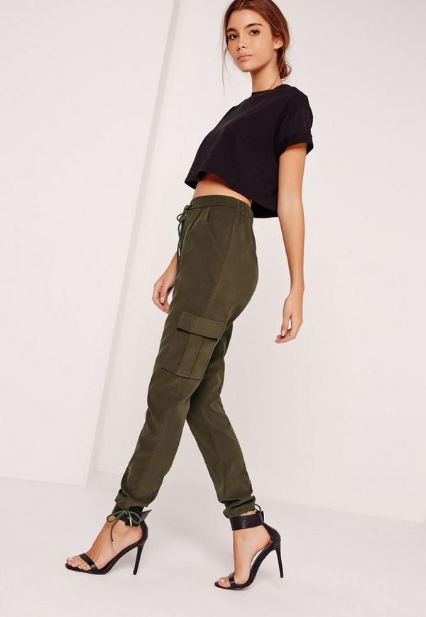 Utility Pocket Cigarette Trousers Khaki
