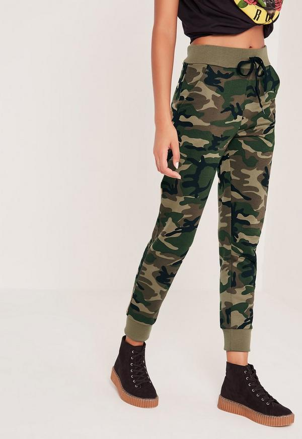 Camo Joggers Green | Missguided