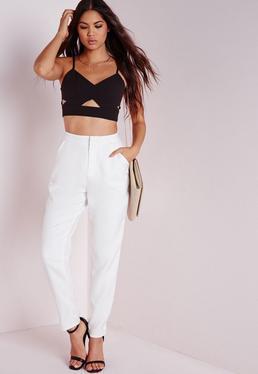 Cigarette Trousers White