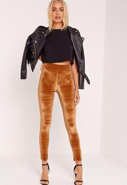 Velour Leggings Orange