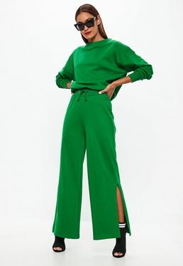 Green Flared Joggers