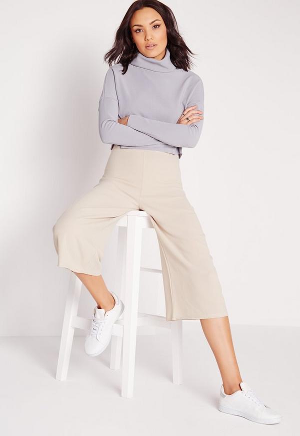 Crepe Culottes Grey