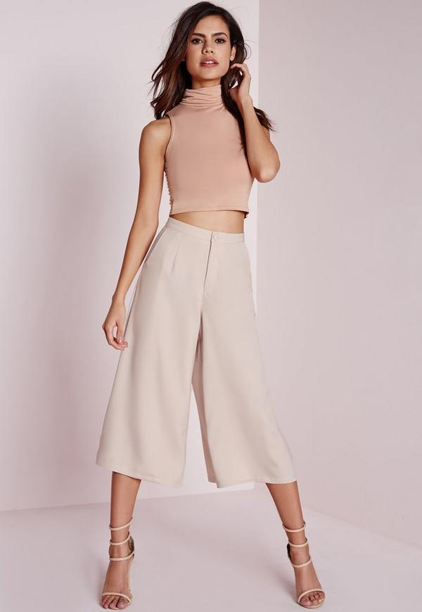 Woven Culottes Nude
