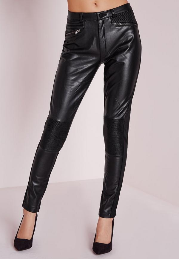 Tripp NYC Junior's Faux Leather High Waisted Skinny Pant, Black, 7/ Keep it tough on the outside and comfy and soft in the inside these skin tight pants will be knocking 'em dead, but the soft interior lining with have you feeling like you're still in the clouds. more.