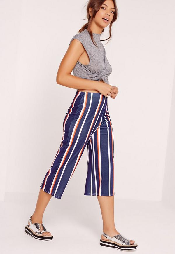 Striped Culottes Navy