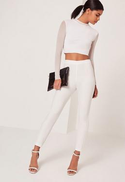 Highwaist Cigarette Trousers White