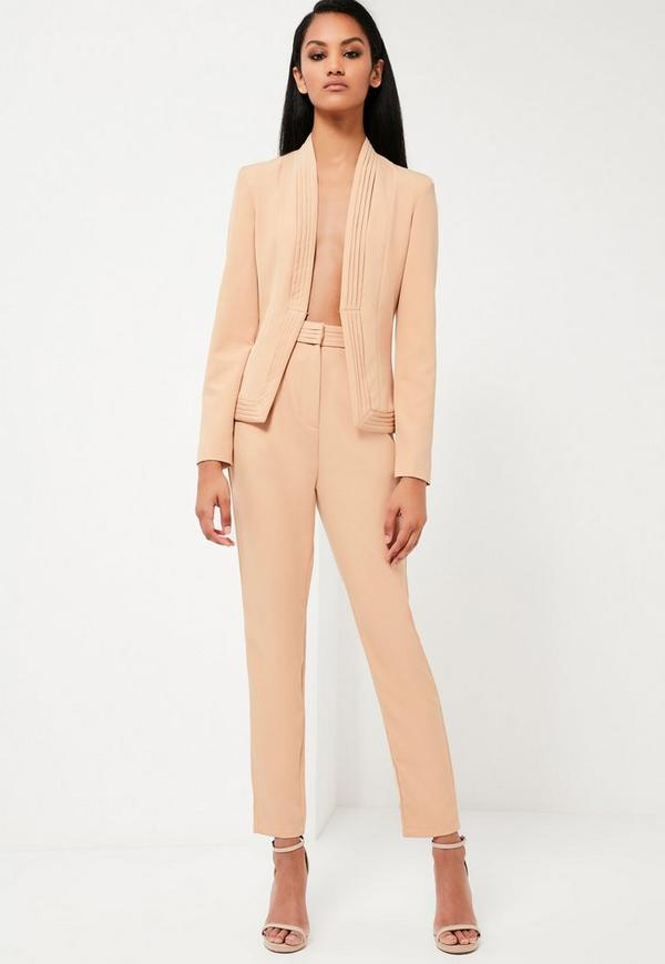 Peace + Love Nude Tailored Skinny Trousers