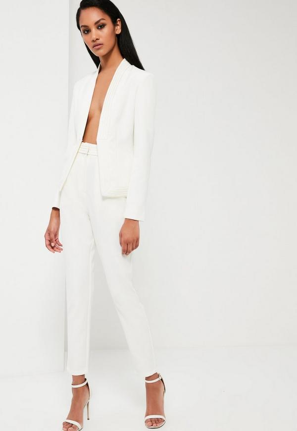 pantalon de tailleur blanc taille haute peace love. Black Bedroom Furniture Sets. Home Design Ideas