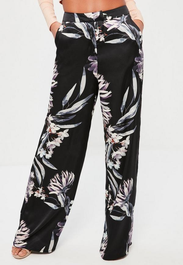 Floral Printed Wide Leg Trousers. Buy cheap Trousers and Leggings for just £5 on trickytrydown2.tk