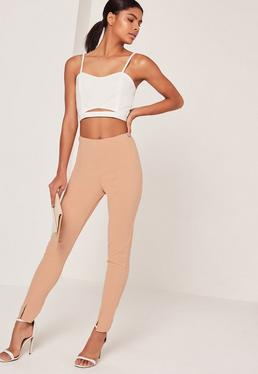 Nude Skinny Fit Cigarette Pants