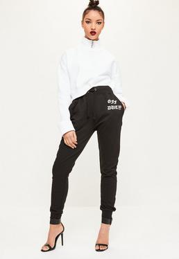 Black Off Duty Cuffed Joggers