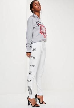 White Badge Side Detail Joggers