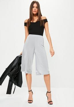 Szare spodnie Culottes