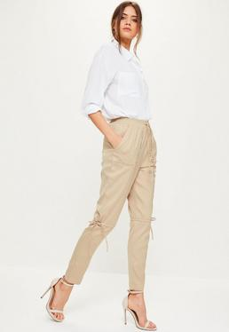 Nude Eyelet Pocket Knee Detail Joggers