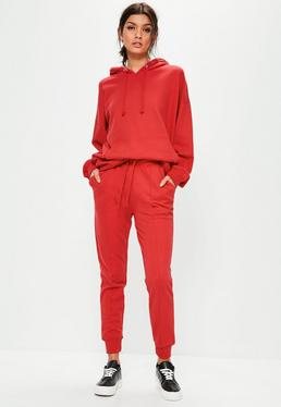 Jersey Jogginghose in Rot