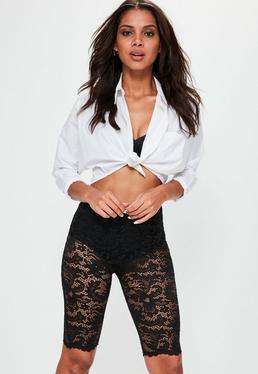 Black Lace Cycling Shorts