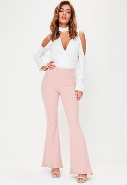Pink Kick Flared Trouser