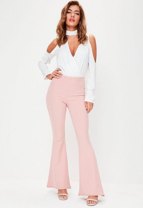 Pink Kick Flared Trouser