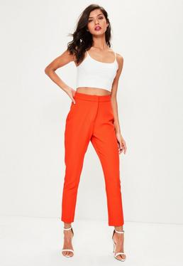 Orange Tailored Trousers