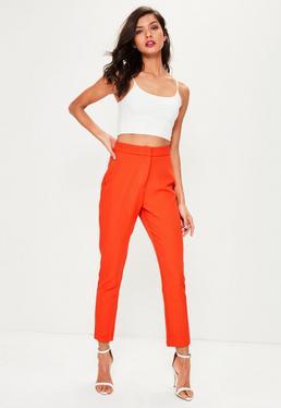 Schmale Anzug-Hose in Orange