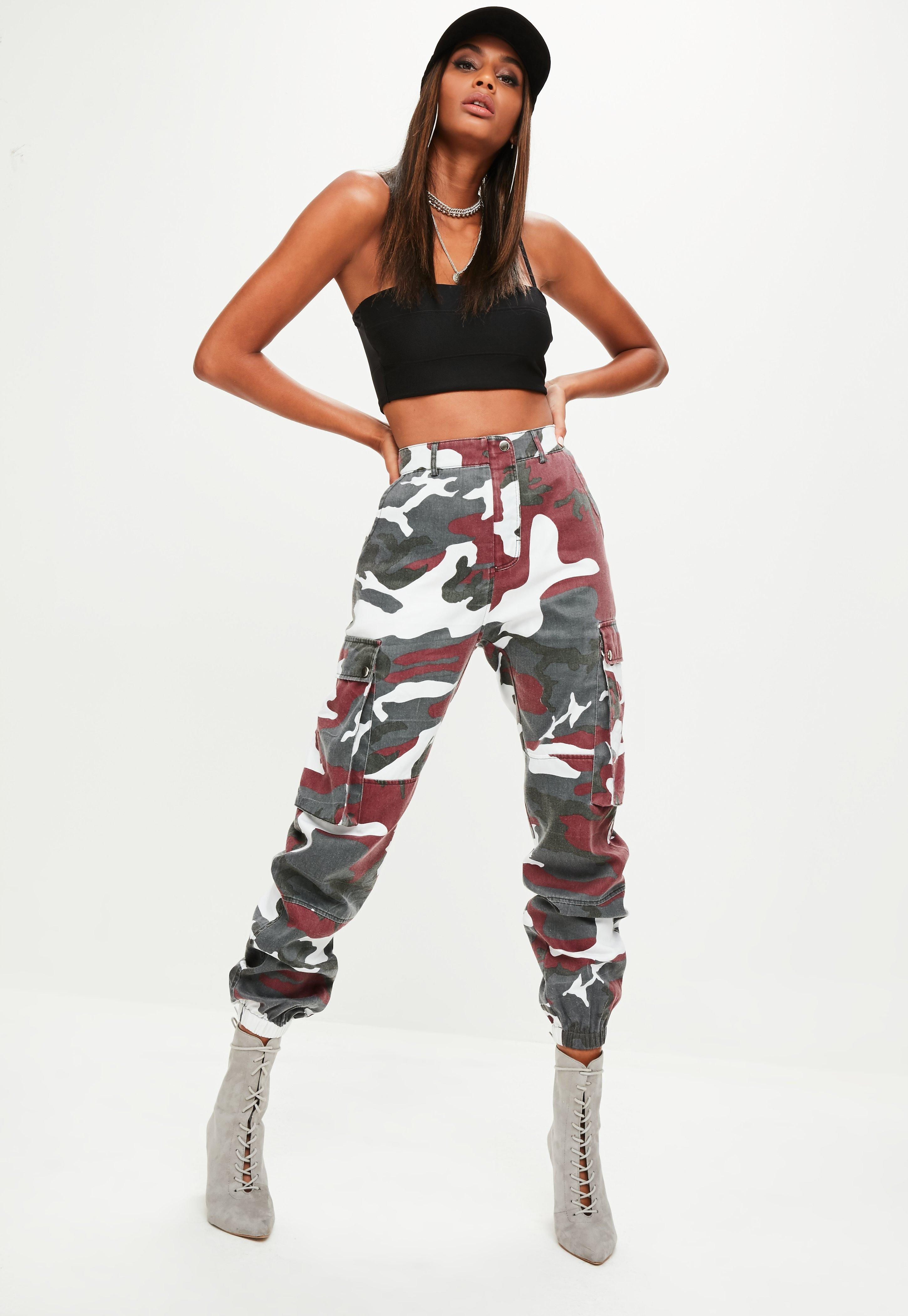 Missguided Premium Camo Cargo Chain Trousers Free Shipping Authentic 7MWTbEC5NI