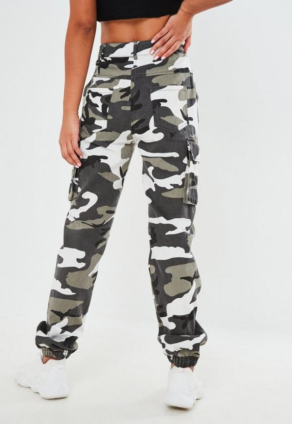 Beautiful Womenu0026#39;s Miss Me Multi Grey Camo Sweat Pants TMP6005