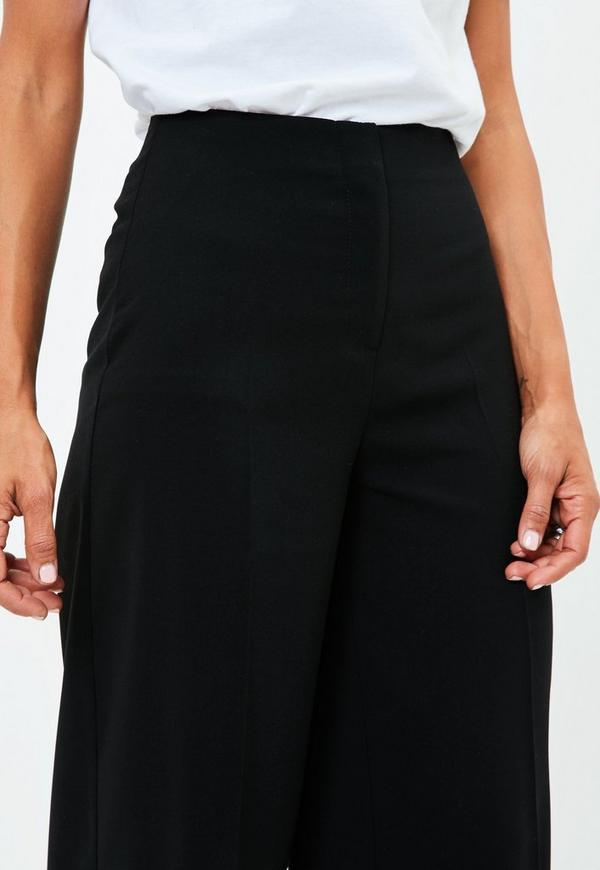 schwarze high waist culottes missguided. Black Bedroom Furniture Sets. Home Design Ideas