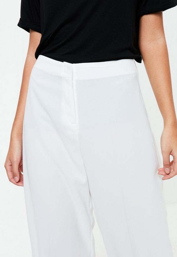 wei e high waist crepe culottes missguided. Black Bedroom Furniture Sets. Home Design Ideas