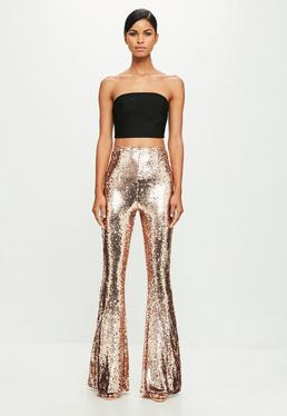 Peace + Love Gold Sequin Pants