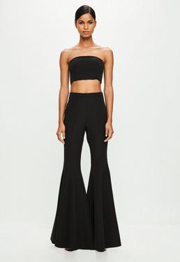 Peace + Love Black Flare Trousers
