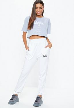 Barbie x Missguided White Plain Joggers