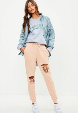 Nude Ripped Front Joggers