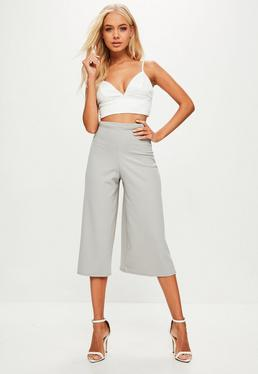 Culotte de crepé en gris