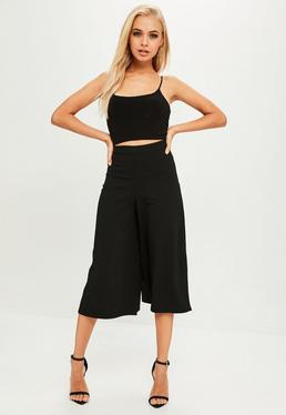 Culotte de crepé en negro