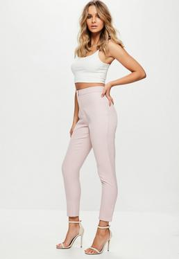 Pink Tailored Cigarette Pants