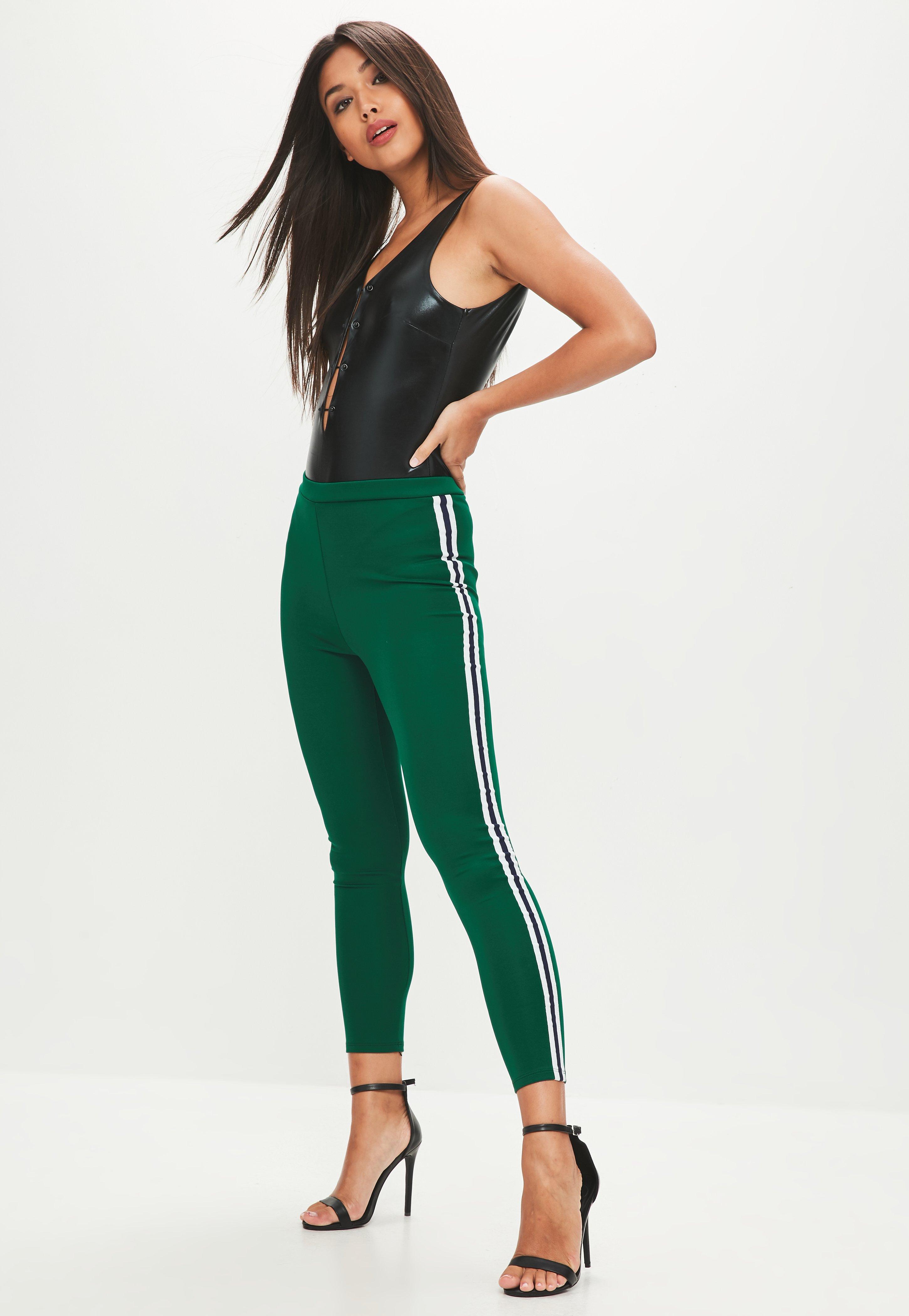 Buy Cheap Original Discount 100% Guaranteed Missguided Double stripe leggings ApdrskGg9g