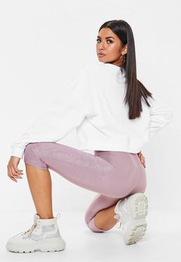 Carli Bybel x Missguided Purple Slinky Cycling Shorts