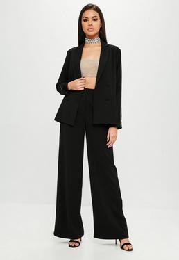 Carli Bybel x Missguided Pantalón de pierna ancha en negro