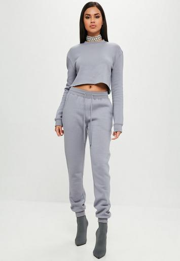 Carli Bybel X Missguided Gray Joggers Missguided