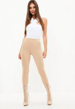 Camel Crepe Leggings