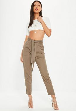 Spodnie cargo w kolorze khaki