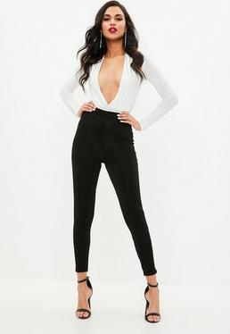 Black Slinky High Waisted Leggings