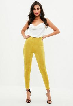 Yellow Slinky Full Length Legging